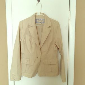 Maurices Cream Jacket Size Large
